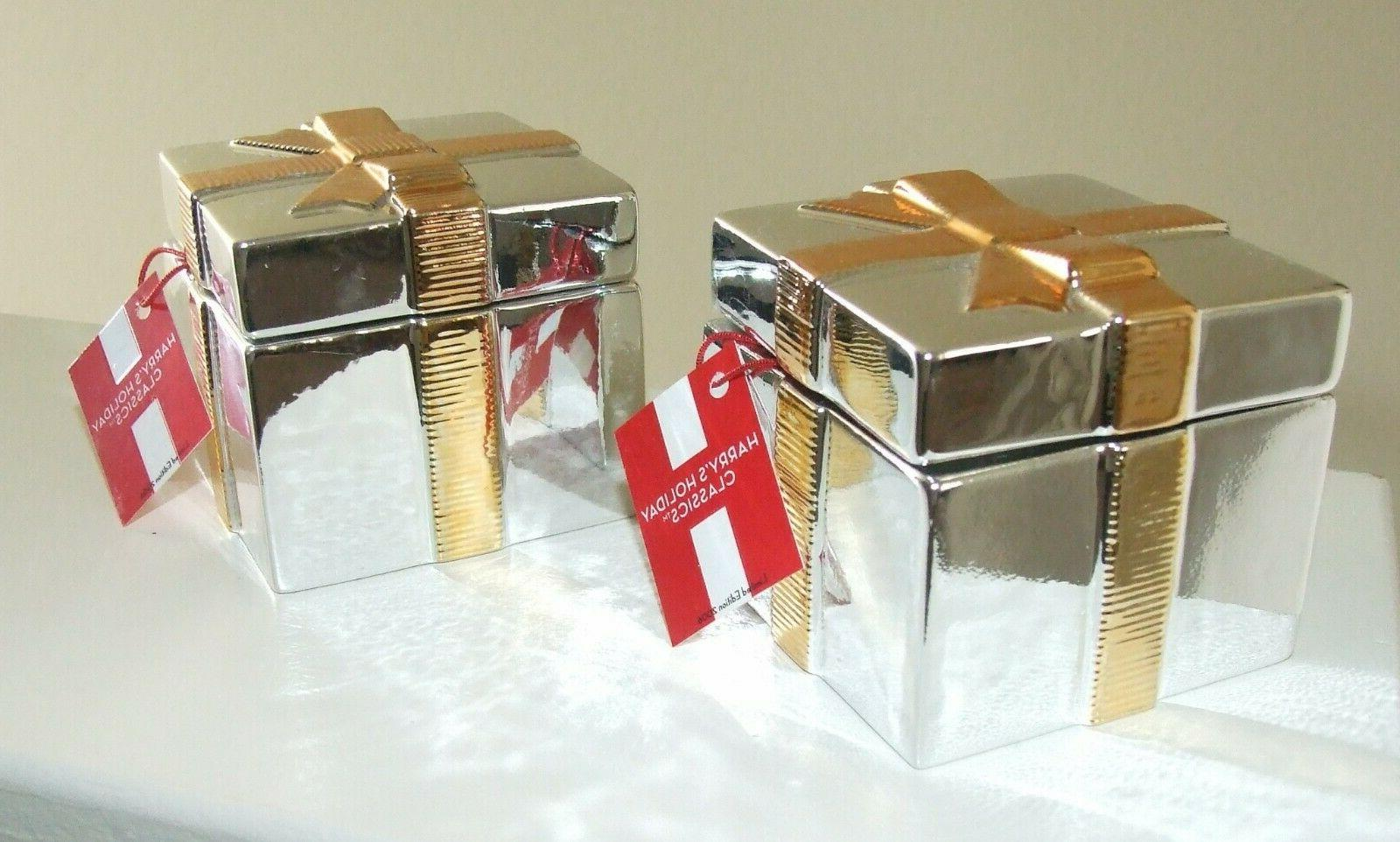 White Barn Candle ASPEN Silver Present Candle w/ - Set of