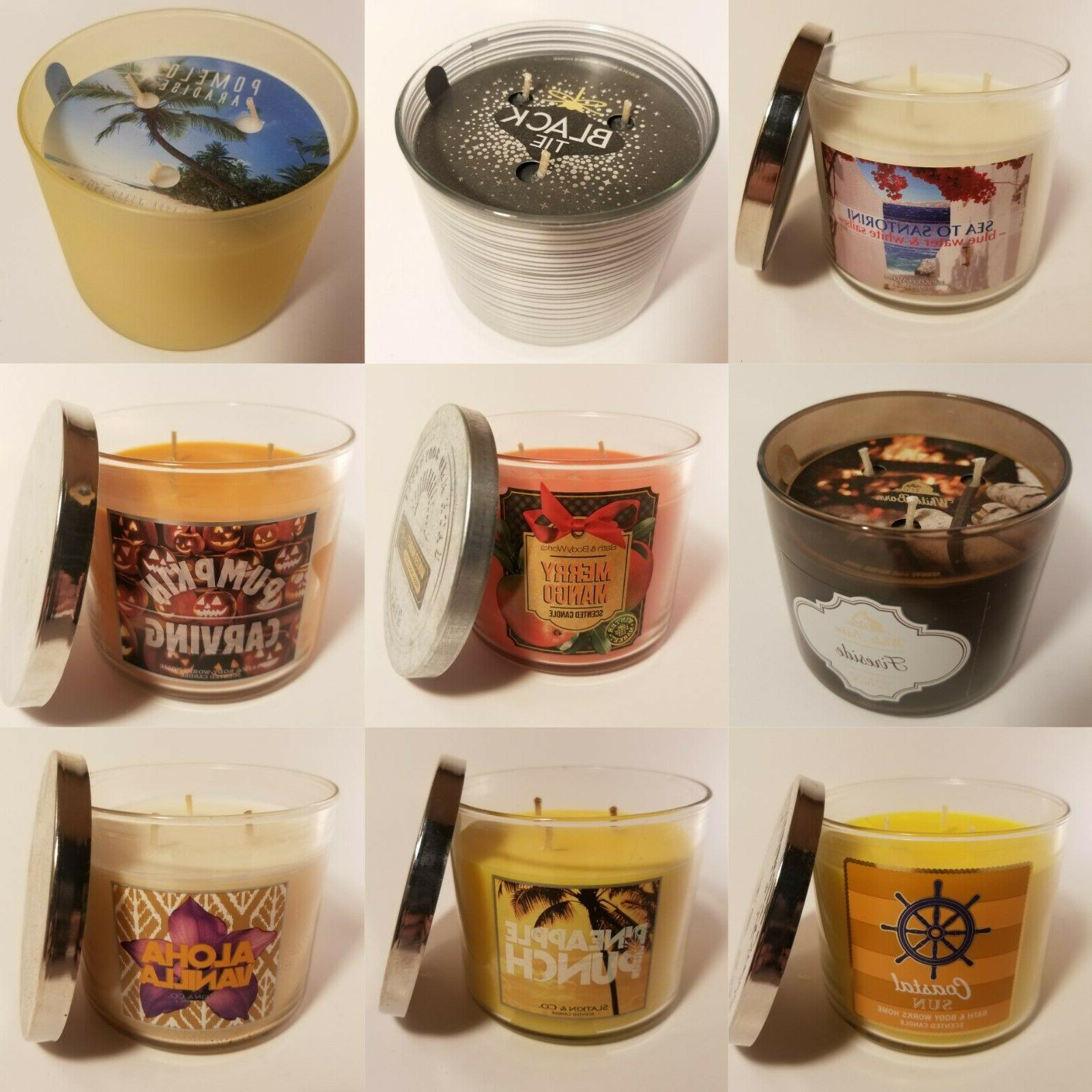 Bath 3-Wick Pick Your Scent! NEW!