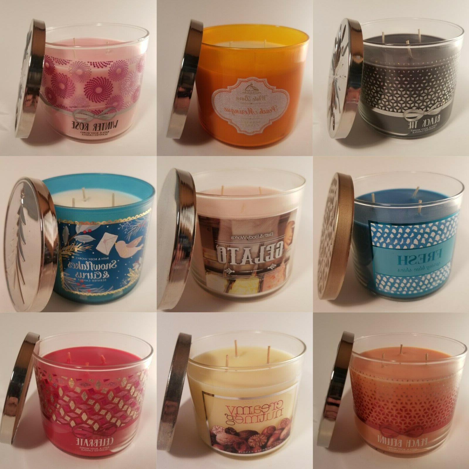 Bath Body 3-Wick Candle Pick Your