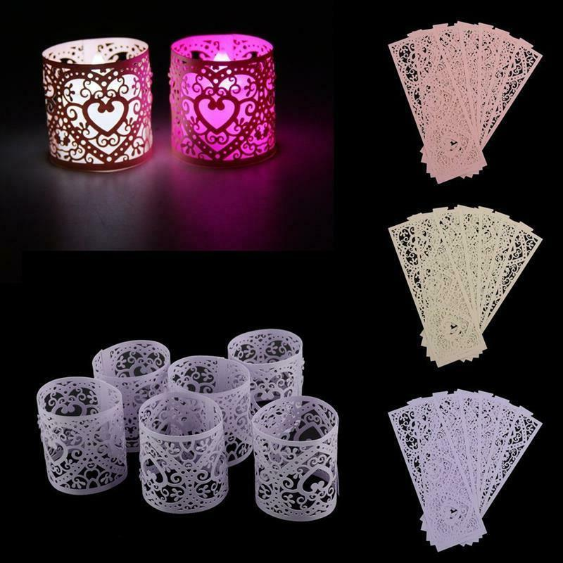 Candle Holders Paper Hollow Decoration Stands Pcs/Lot