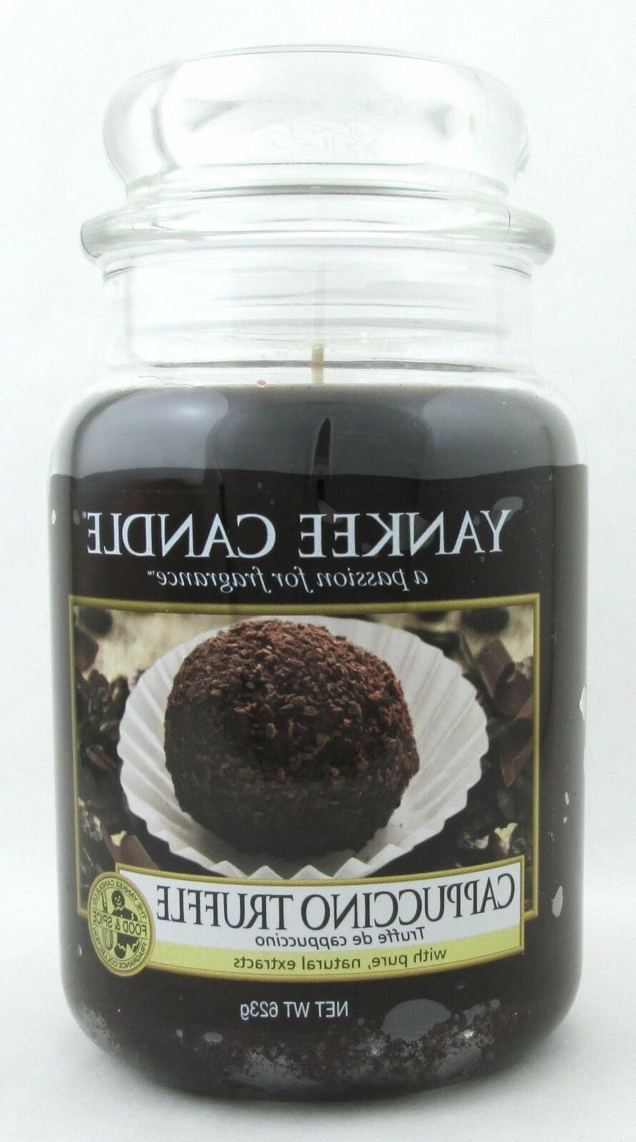 Yankee Candle Cappuccino Truffle Scented Large Jar 22 Oz
