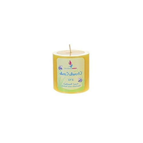 """Mega Citronella Round   Wax x 3"""" Bug Candles For Outdoor Use   Everyday Candles For Insects"""