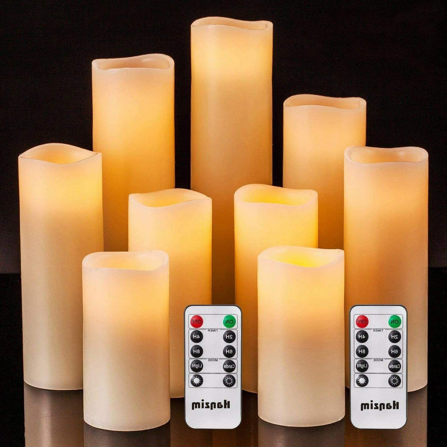 flameless candles ivory led real pilar remote