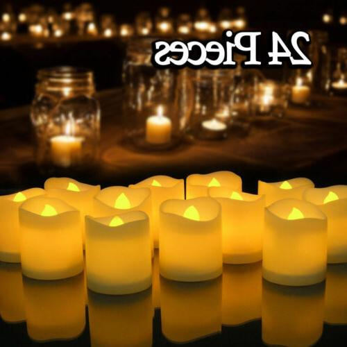 24X Flameless Votive Candle Battery Operated Electronic LED