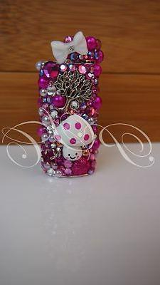 Fuchsia Crystal Lighter Case Cover Bling Cigarette Candles S