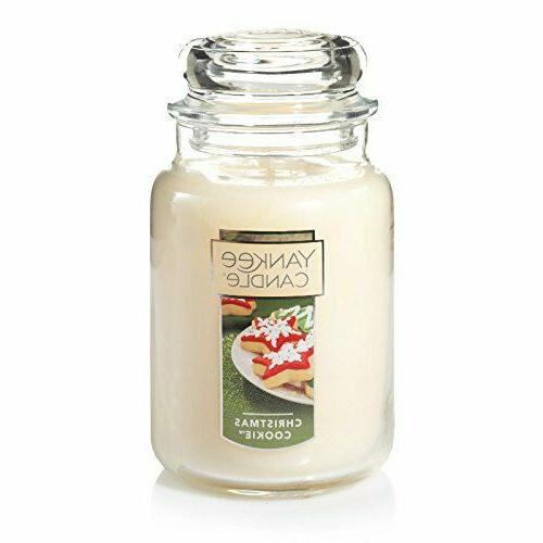 Yankee Candle Christmas Cookie Large Jar Candle, Festive Sce