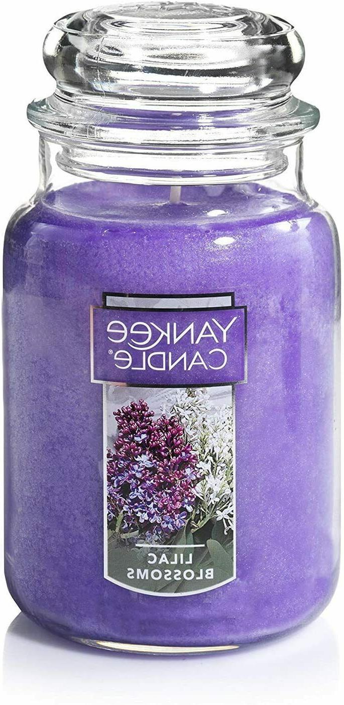 large jar candle lilac blossoms