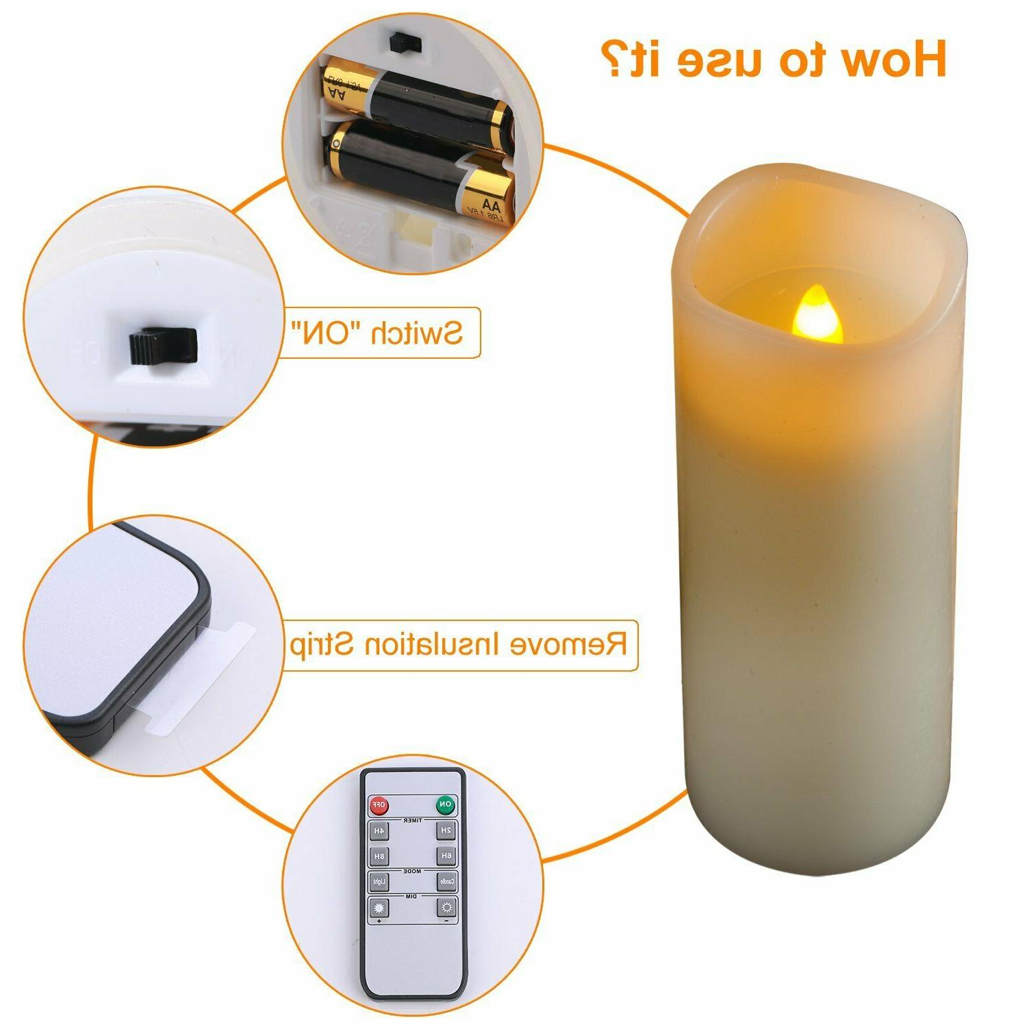 Flameless Ivory Real Pillar Control With Of