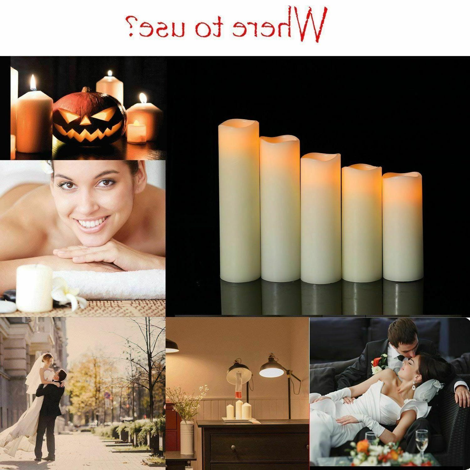 Flameless Real Wax Pillar Control With Timer Of