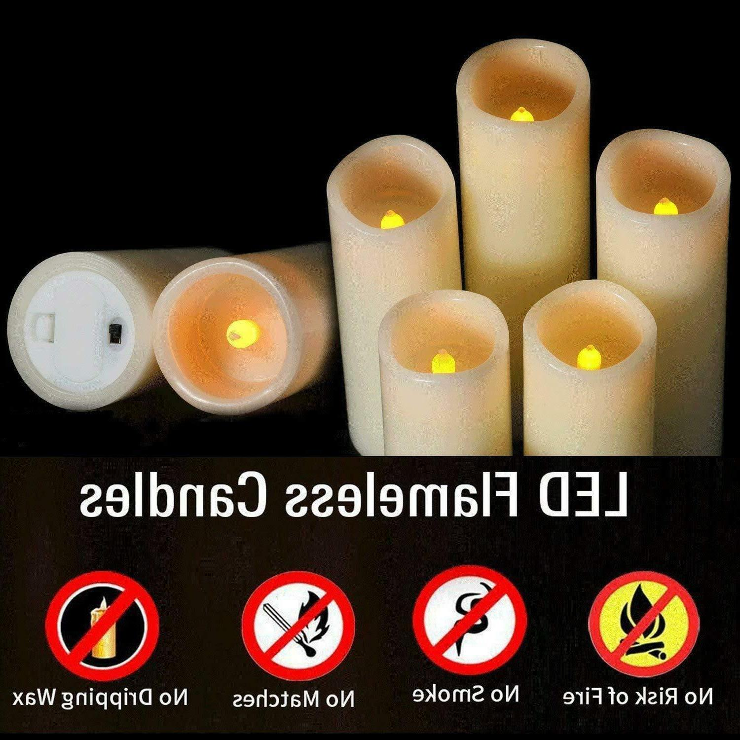 Flameless Ivory Real Pillar Control Of 5PC