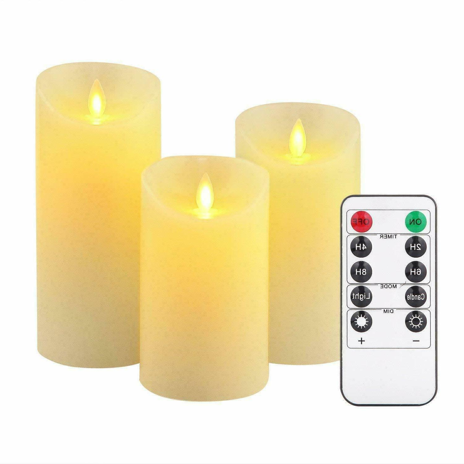 luminara flickering led candles moving flameless wick