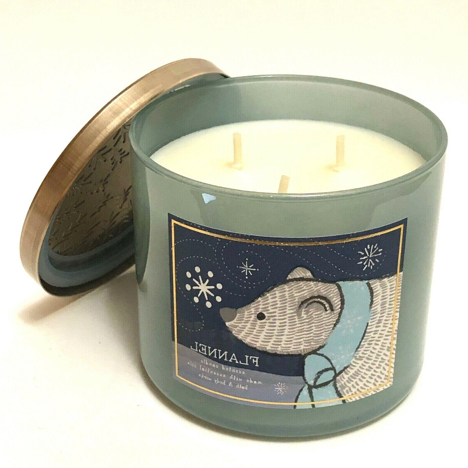 NEW BODY FLANNEL LARGE SCENTED 3-WICK FILLED