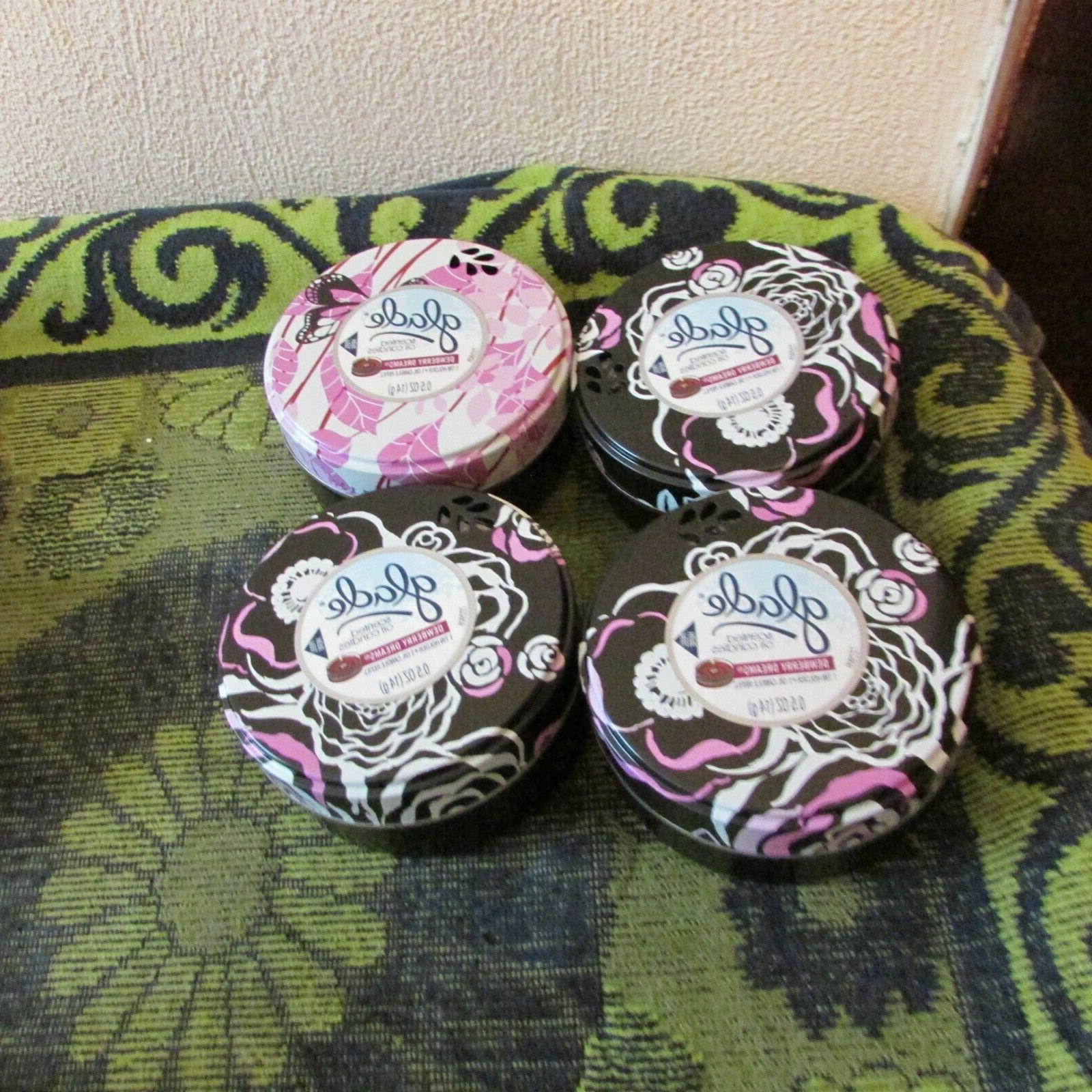 new lot of 4 candles in reusable