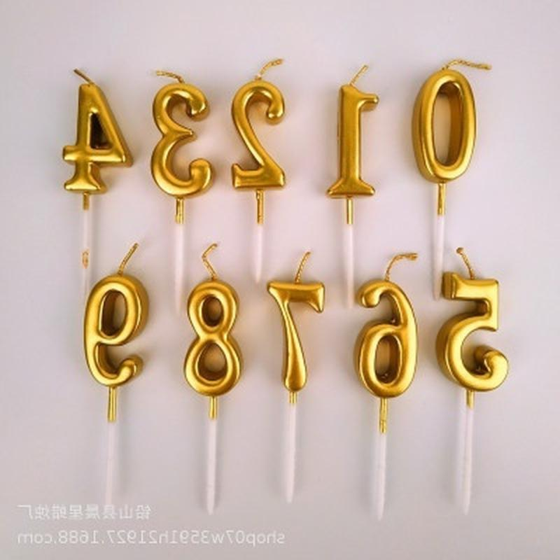 Creative Number 0-9 Happy Birthday Cake Candles Topper Decor