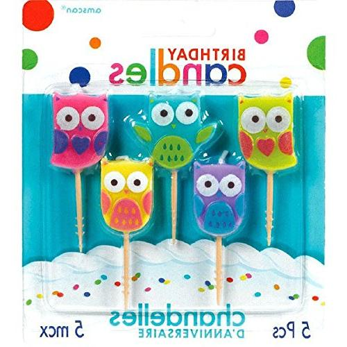 party time molded owls birthday