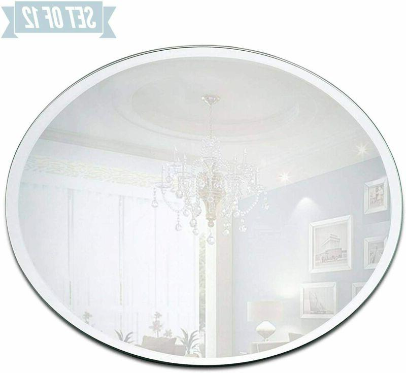 round mirror candle plate set box of