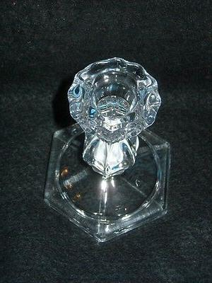 """Taper Candle Holder, Glass Cambridge, for taper candles, 1/4"""""""