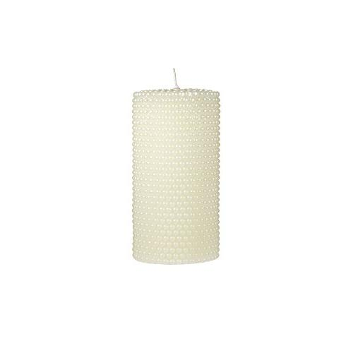unscented ivory round pearl pillar