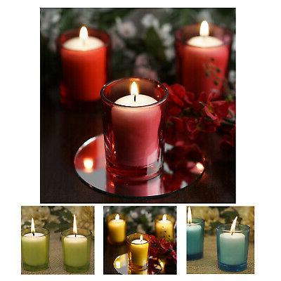 votive candle and holders for wedding party