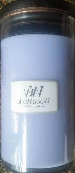 Woodwick Large Candle Blue Lavender Scent New!