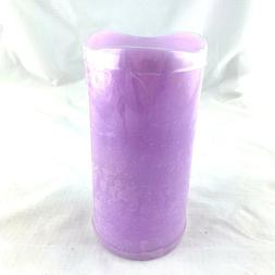 Signature Homestyles LED candle lavender purple paraffin wax