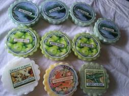 Lot 10 YANKEE CANDLE Potpourri Wax Tarts NEW - Different Sce