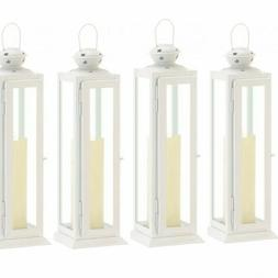 Lot 10 Star Cutout 12in White Lantern Candle Holder Wedding