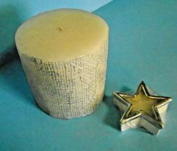 Lot/2 Candles Biedermann & Sons Bayberry Star & Generic Whit