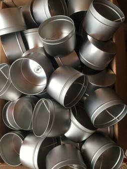 """Lot of 48 2"""" Empty Candle Tins w/ Wicks for DIY Candle Mak"""