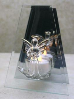BANBERRY DESIGNS Memorial Candle Holder - Glass Infinity wit