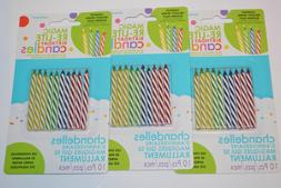 New Amscan Magic Re-lite Birthday Candles 3 Packs 36 Ct Part