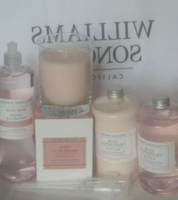 NEW Williams Sonoma PINK GRAPEFRUIT 9oz Candle Hand Lotion &