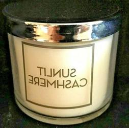 *New* SUNLIT CASHMERE single wick Candle ~ Bath & Body Works