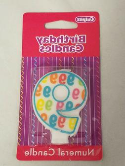 Number 9 Birthday Party Candle Numeral Candle for Cake Celeb