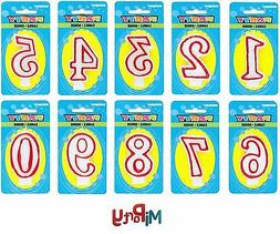 Number Candle Birthday Party Cake Topper All Ages Boy Girl R