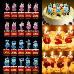 Numbers Candle Cake Candles Anniversary Ages Party Kids Birt
