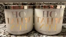 Bath and Body Works OH WHAT FUN Winter Candy Apple 3 Wick Ca