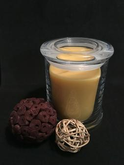 Organic Beeswax Candle in Glass Jar with Lid Natural Honey S