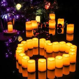 3X4 Inches Flameless Plastic Pillar Led Candle Light With T