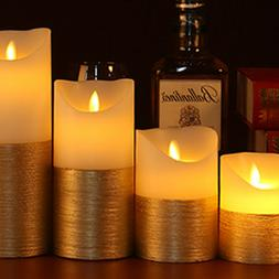 Pillar Candles LED Remote Control Lighter Scented Lamp Weddi