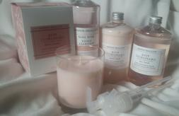 Williams Sonoma PINK GRAPEFRUIT 9oz Candle + Hand Lotion & S