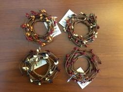 Pip Berry Primitive, Country Taper Candle Ring or Napkin Rin