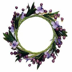 A Cheerful Giver Plum Berry Flower Candle Ring