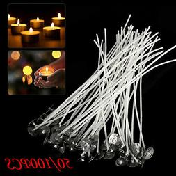50 X Candle Wicks Long-Lasting Storage Bright Flame Candle M
