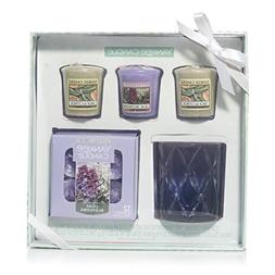 Yankee Candle Radiant Candle Gift Set, Lilac Blossoms and Sa