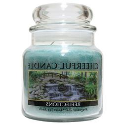 A Cheerful Giver Reflections Jar Candle, 16 oz, Blue