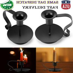Retro Iron Taper Candle Holder Candlestick Stand for Wedding