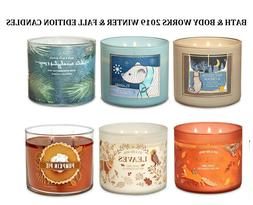 Bath and Body Works Scented Candles Large 3 Wick 2019 Holida