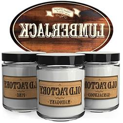 Old Factory Scented Candles for Men - Lumberjack -Decorati