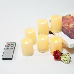 6PCS Battery Operated Flickering Flameless LED Votive Candle